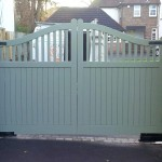 C2 Croft Painted Automated Driveway Gate