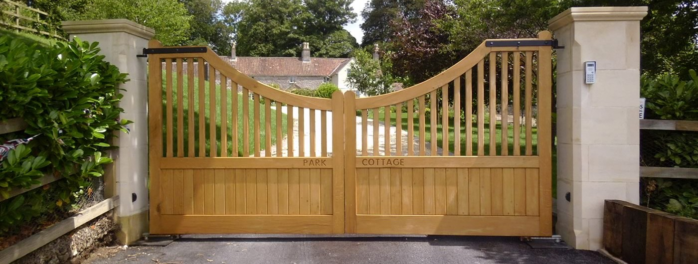 Bg wooden gates driveway made to measure