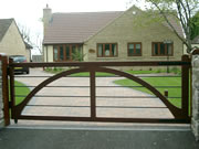 Winchester wooden driveway gate
