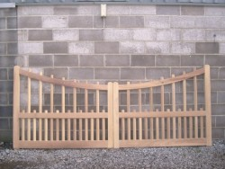 Natural Westminster hardwood gate
