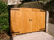 County wooden driveway gate