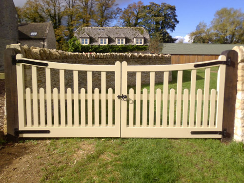 Painted Palisade - wooden gate