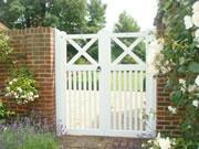 Pedestrian wooden driveway gate