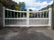 Westminster wooden driveway gate